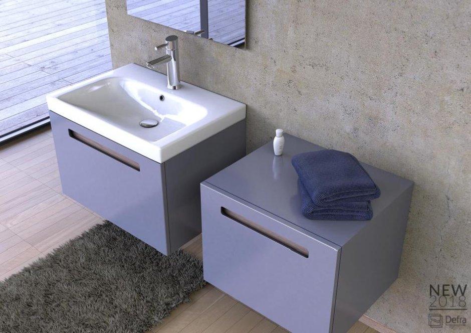 Półsłupki, słupki niskie - szafki do małej łazienki