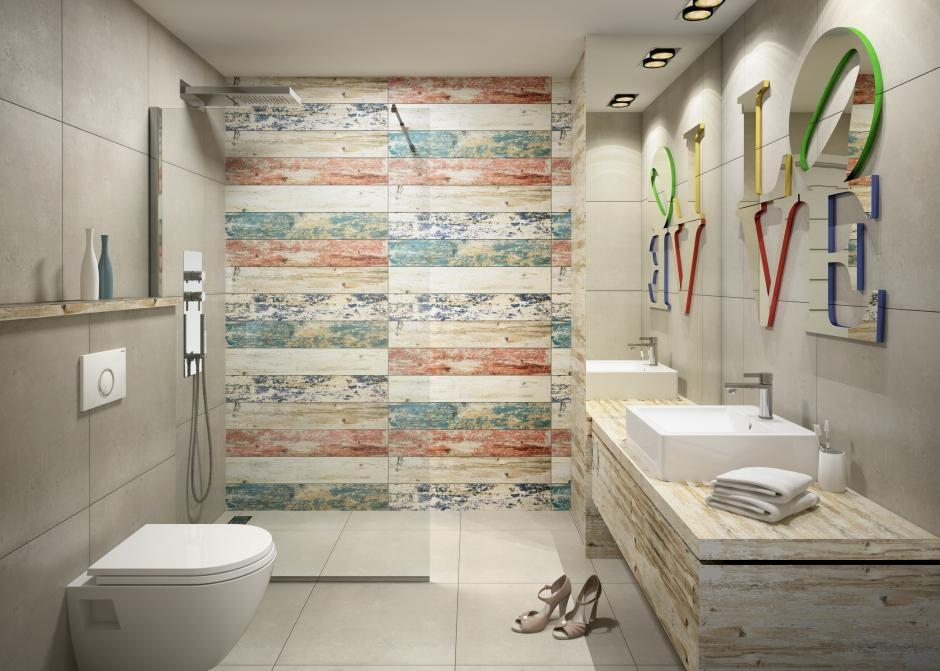 Nowoczesna łazienka - połączenie starego z nowym