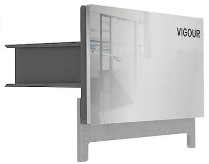 Elements - odpływ ścienny Vigour Individual stal polerowana