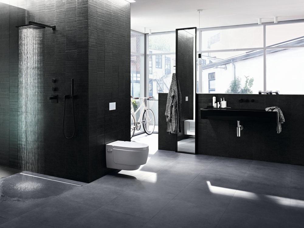 Aranżacja łazienki z wykorzystaniem odpływu liniowego Geberit