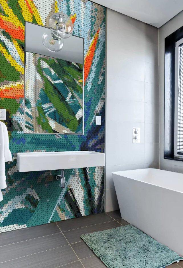 Pomysł na mozaikę w łazience