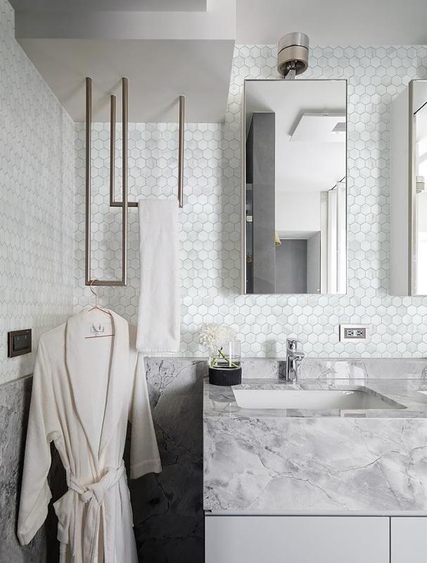 Pomysł na wieszak w łazience
