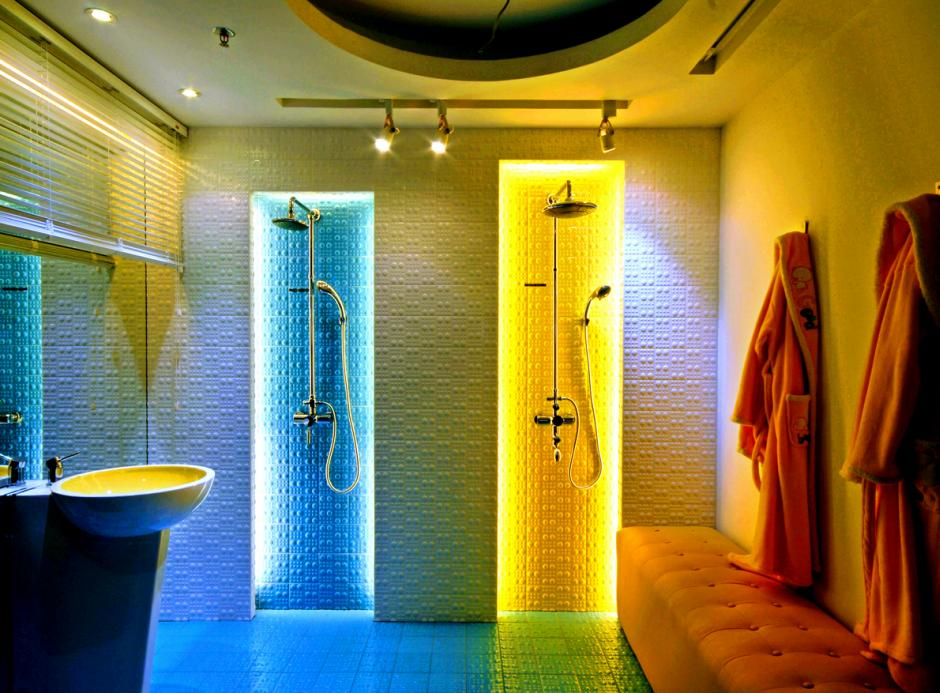 Oświetlenie dekoracyjne LED w łazience taśmy GTV