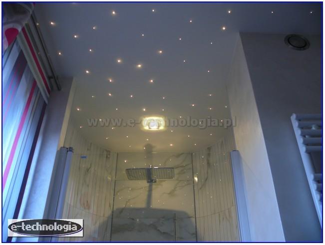 oświetlenie dekoracyjne sufitu w łazience - E-Technologia