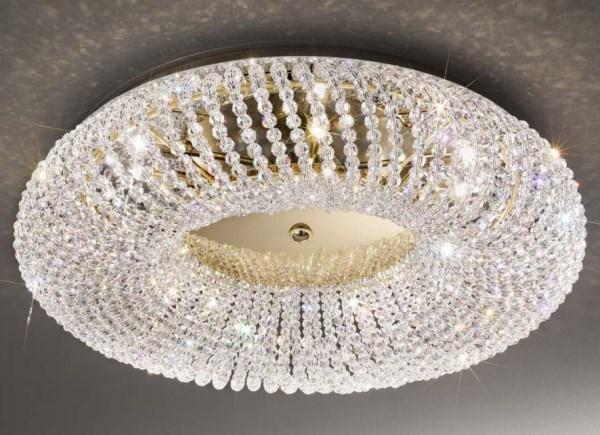 Oświetlenie łazienki lampa kryształowa Carla APM Morkom