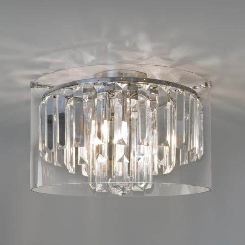 Oświetlenie łazienki plafon Asini z kryształkami Aurora Technika Świetlna