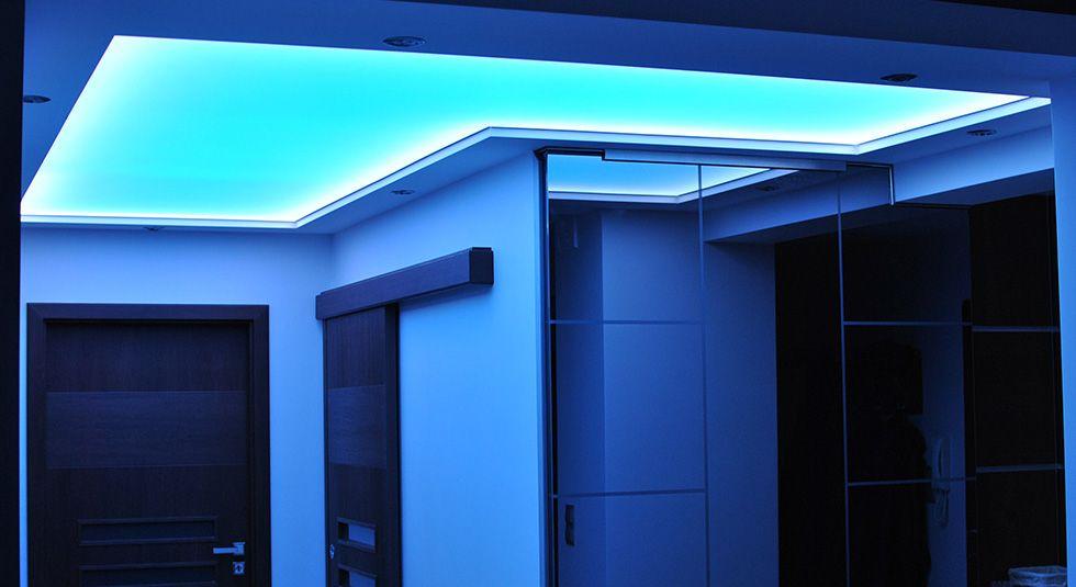 Oświetlenie łazienki sufit napinany Soled
