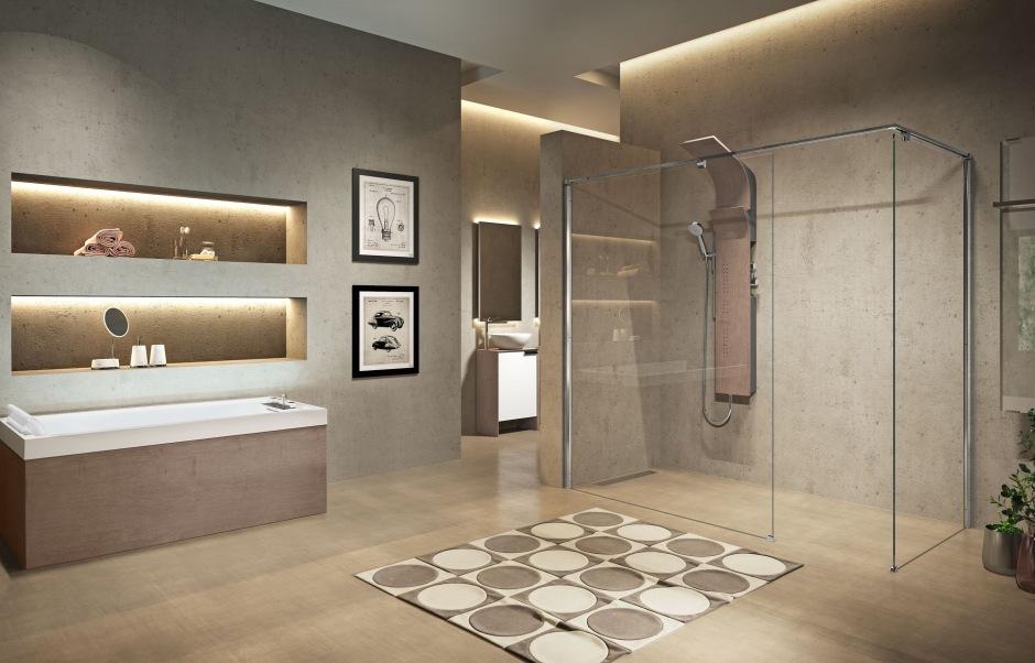 Panel prysznicowy dodaje wyjątkowości łazience