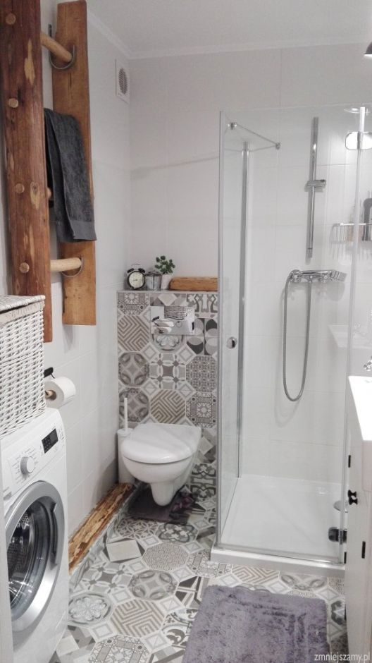 Drabina w łazience