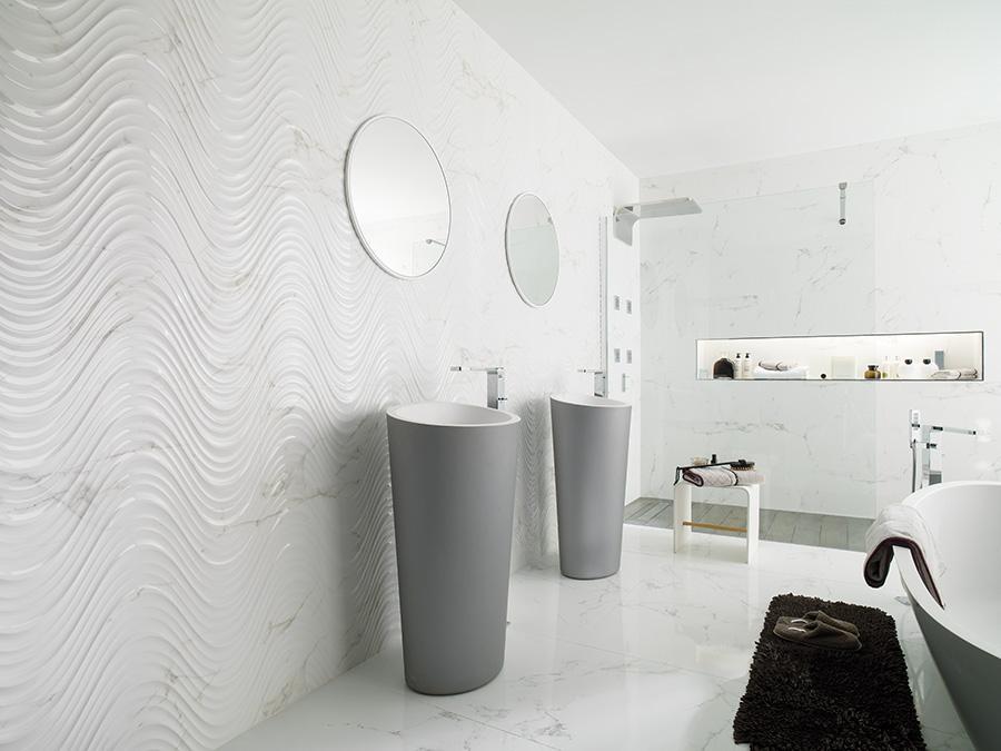 Płytki 3D Carrara Creta Blanco Porcelanosa Max-Fliz