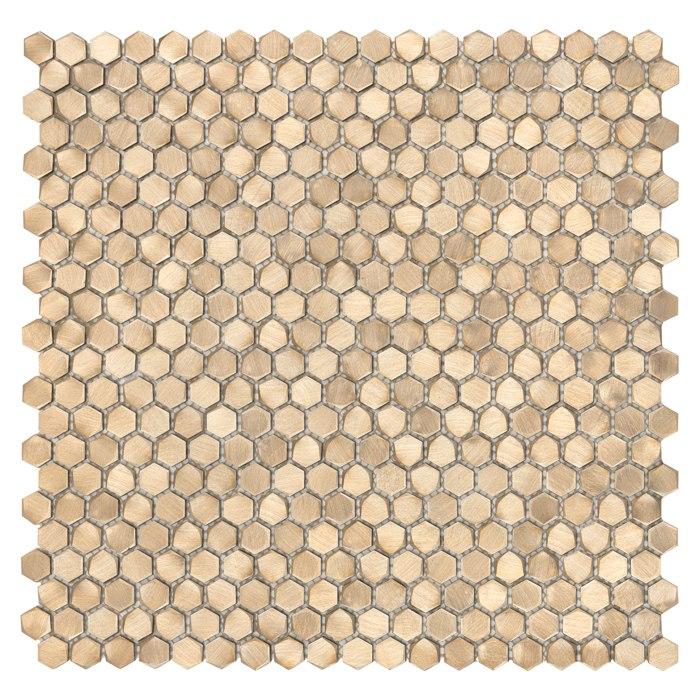 Allumi Gold Hexagon 14 – mozaika metalowa