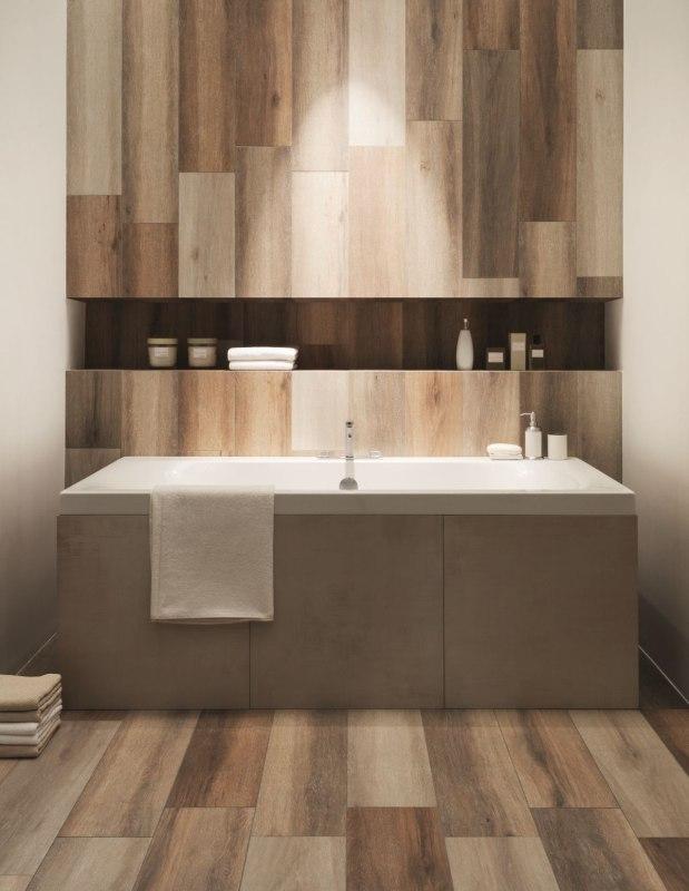 Płytki gresowe imitujące drewno Korzilius Modern Ipe Beige White Brown Eurostandard