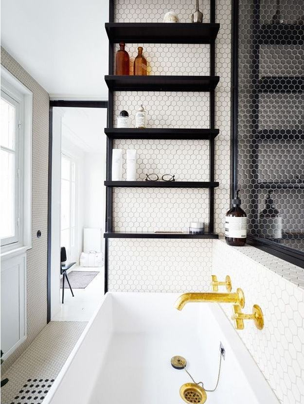 Płytki Heksagonalne W łazience Podłogi I ściany Wszystko O