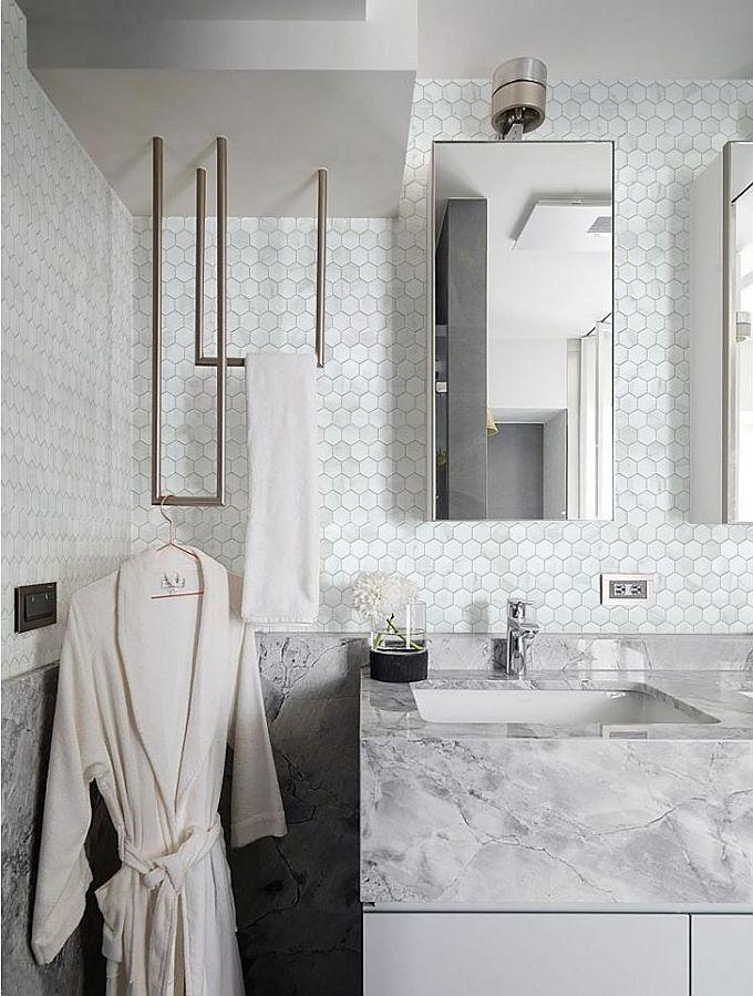 Płytki łazienkowe Imitujące Drewno Cegłę Beton Kamień