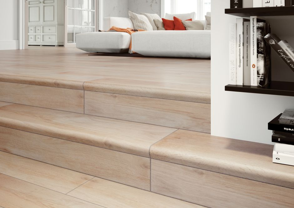 Płytki v-shape - kompleksowy system aranżacji schodów
