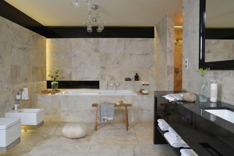 Aranżacja łazienki z kamieniem - ciekawe połączenia