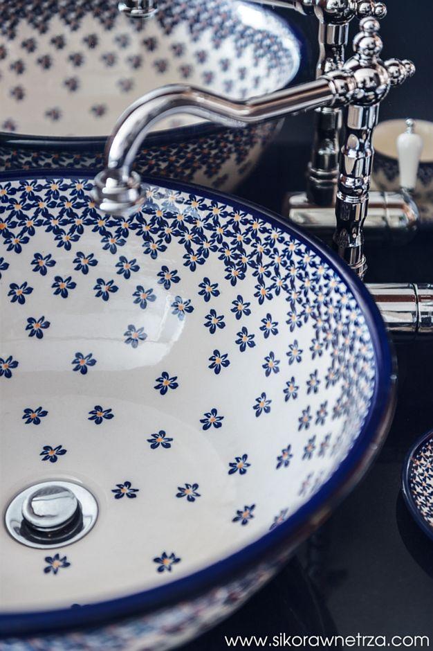 Ręcznie malowane umywalki ceramiczne