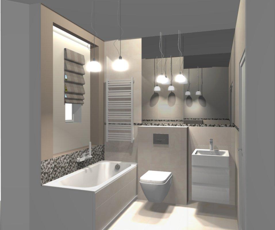 Rzut projektu łazienki architekt Magdalena Nowak Deante