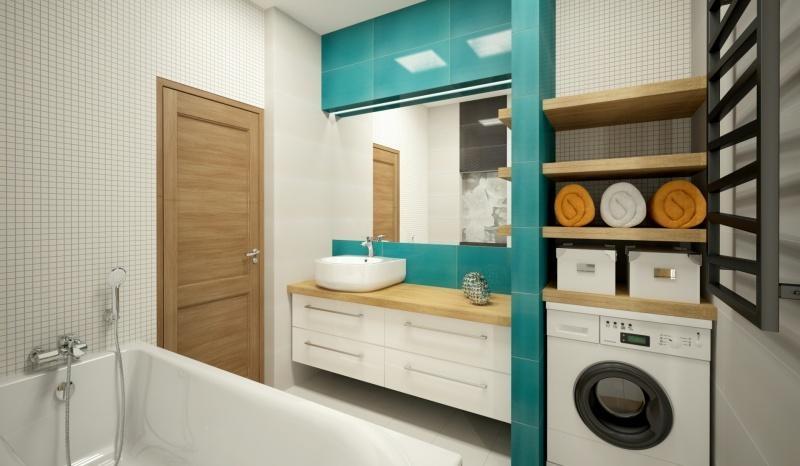 Deante - schowki w małej łazience