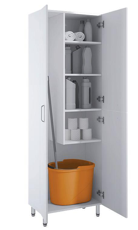 Wszystkie nowe Miejsce do przechowywania środków czystości, misek, mopa CW13