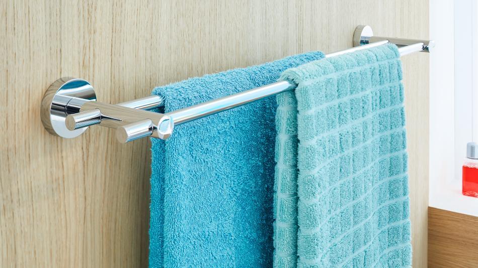 smooz tesa tape - reling na ręczniki mocowany bez wiercenia