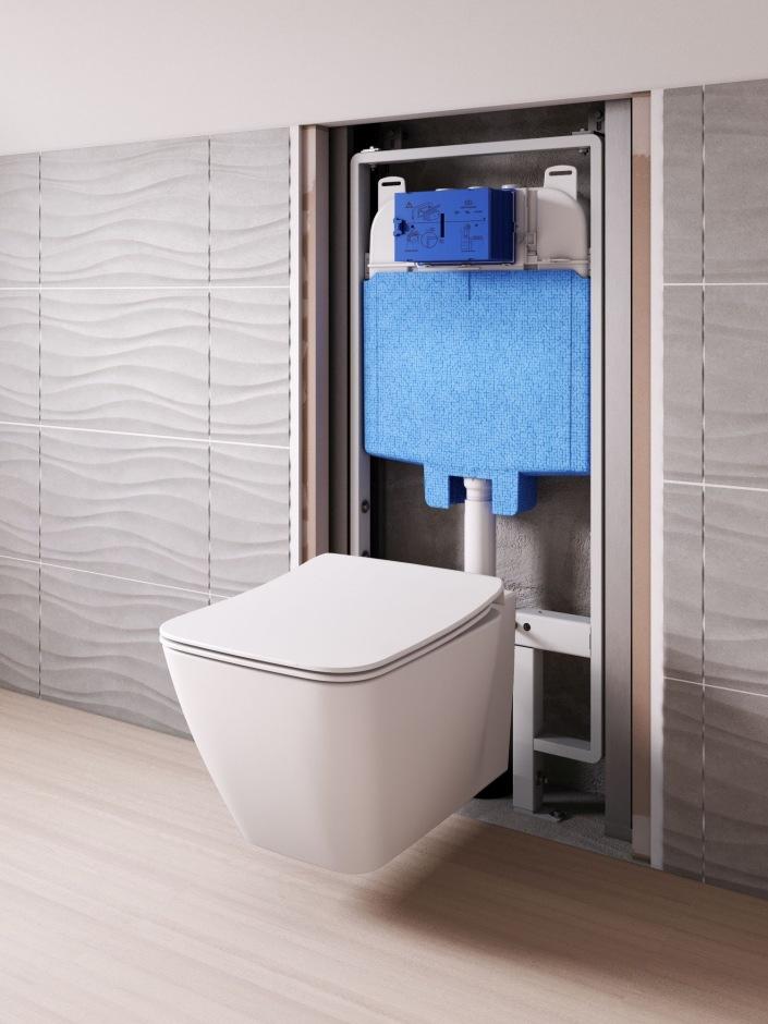 Stelaż ProSys 80 do wąskiego montażu miski WC
