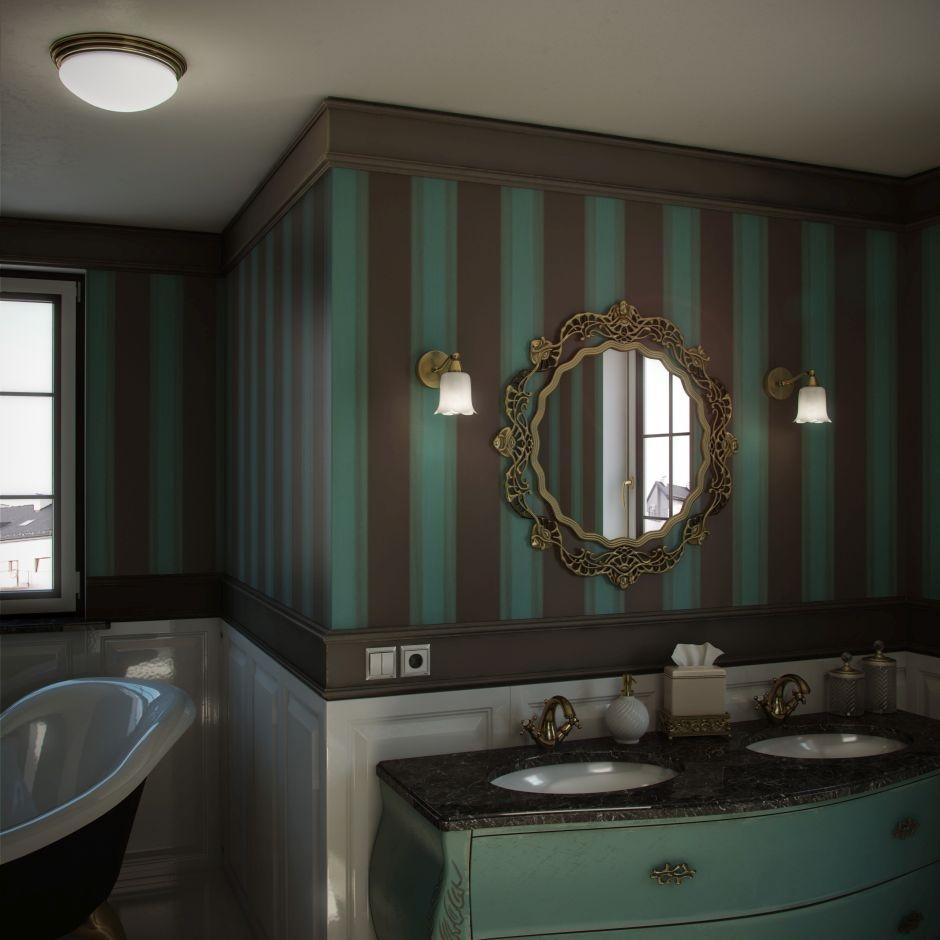 Łazienka w stylu wiktoriańskim - oświetlenie