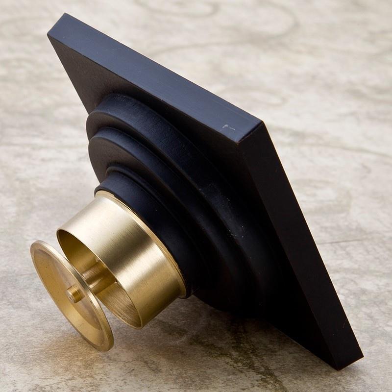 Mosiężny odpływ prysznicowy w kolorze czarnym NOBEL