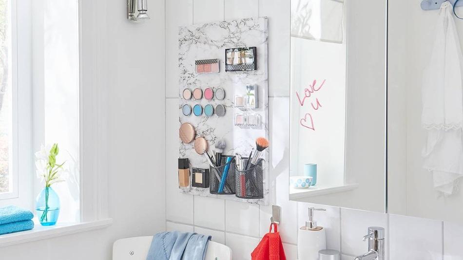 stylowy organizer na kosmetyki do makijażu