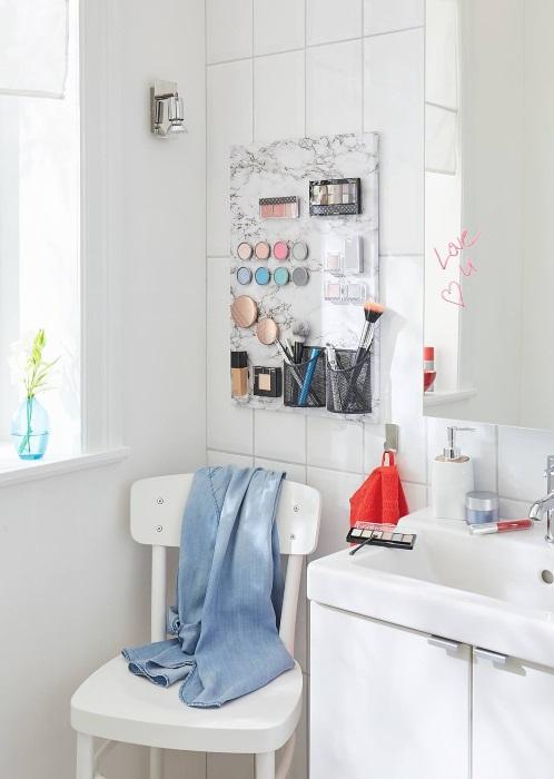 stylowy organizer na kosmetyki do makijażu - jak wykonać