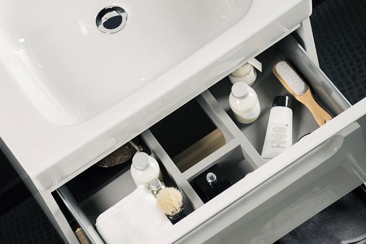 Modo - szafka pod umywalkę z systemem cichego domyku i przegrodami wewnętrznymi