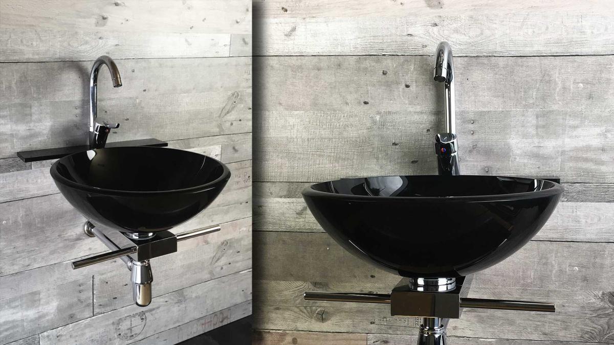 szklana umywalka, czarna BOWL - M2YOU