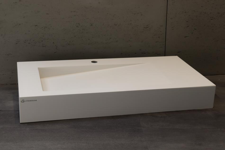 umywalka Cristalstone Linea Ideal z odpływem liniowym - Luxum