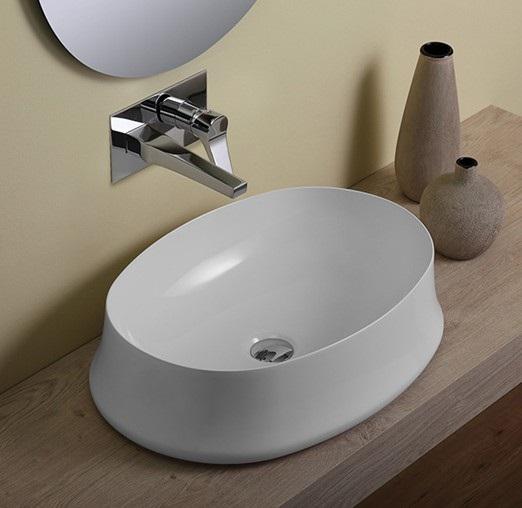 Simas - umywalka z cienkim rantem