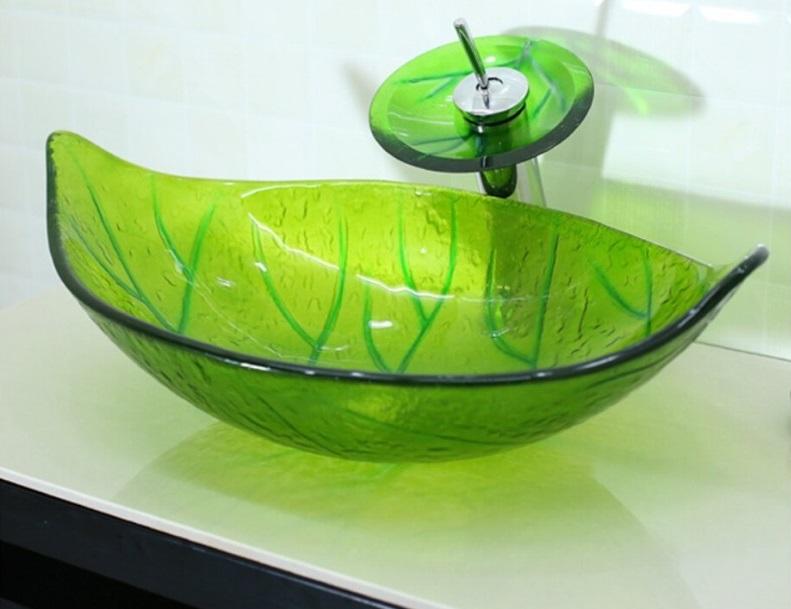 nablatowa umywalka szklana z baterią Retrowoda.pl Klonik