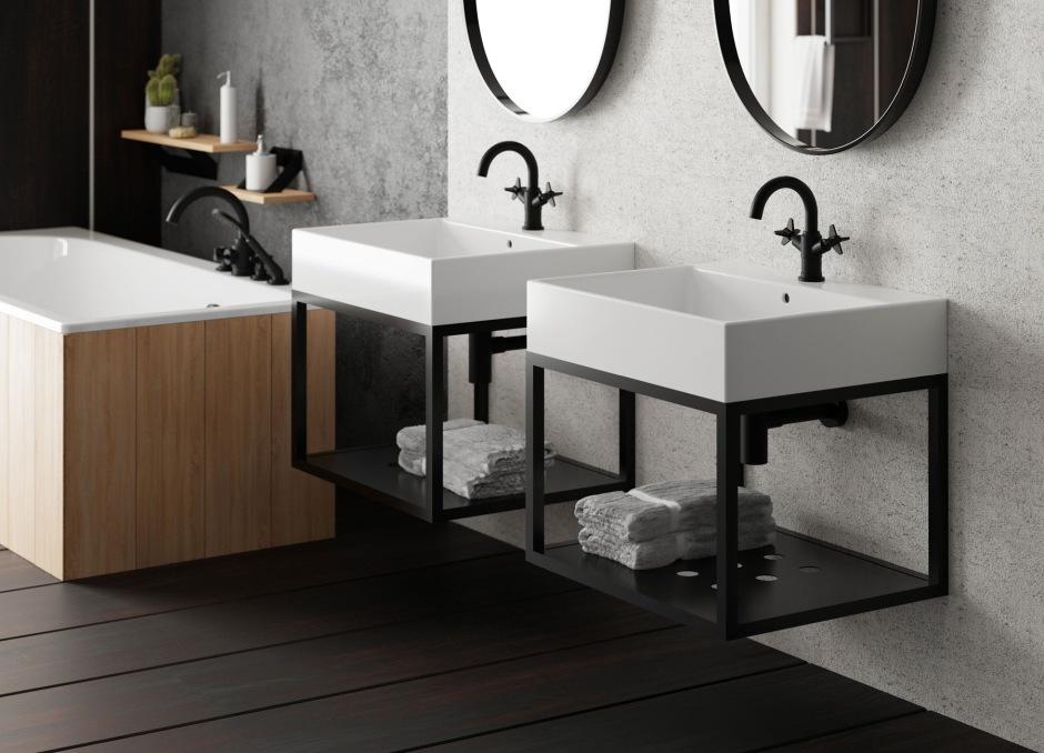 Konsola łazienkowa – wersja wisząca
