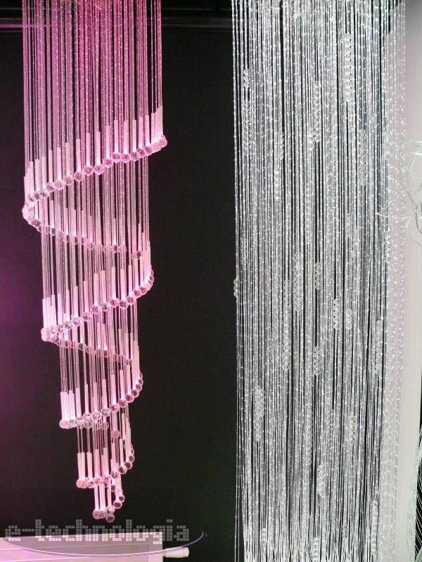 Żyrandol światłowodowy