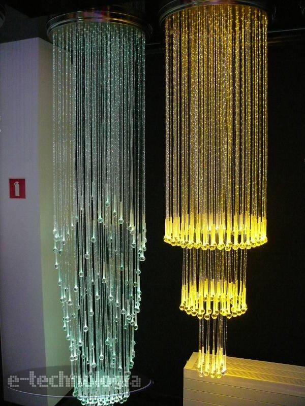 Żyrandole światłowoowe