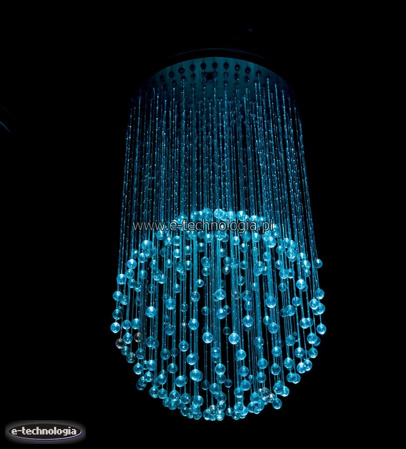 Żyrandol światłowodowy kula