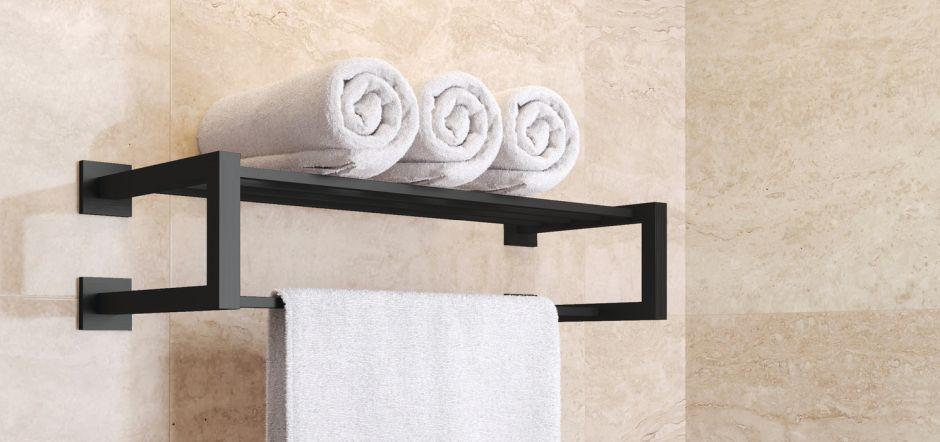 półki na ręczniki z drążkiem na ręczniki