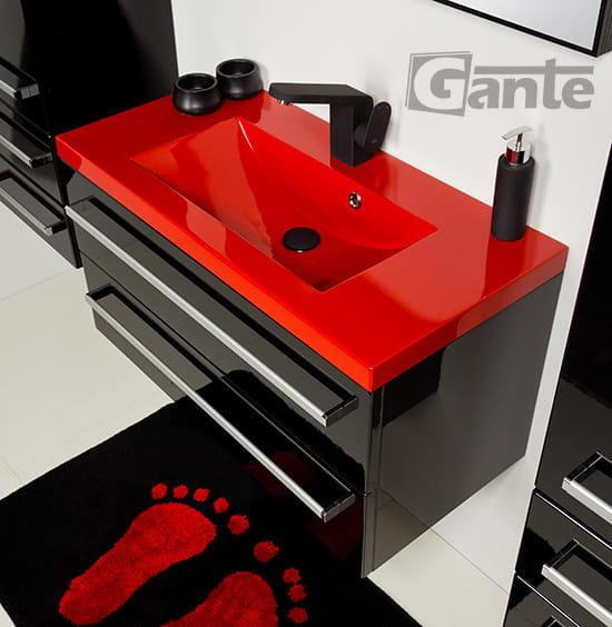 Czerwona umywalka