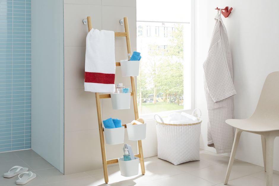 Ozdobna drabina do wieszania ręczników