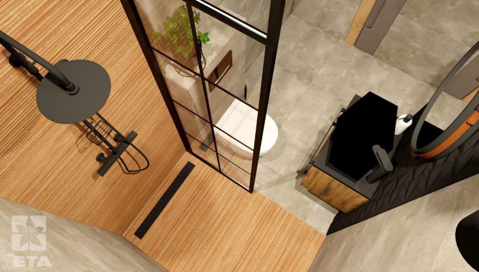 Aranżacja małej łazienki kabina modo II
