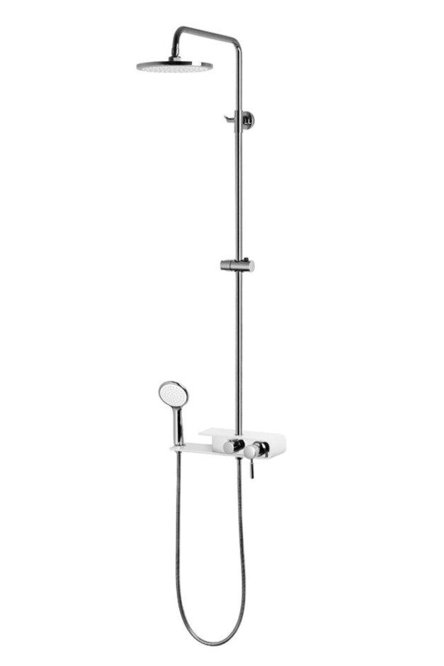 Kolumna prysznicowa KLAR FIber biała