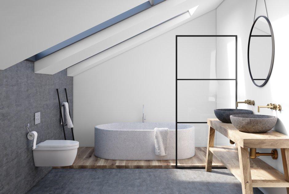 Łazienka w stylu skandynawskim – pamiętaj o metalowych akcentach