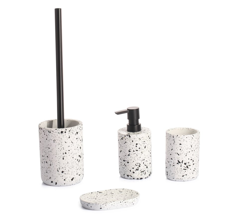 Akcesoria łazienkowe LAPIS inspirowane lastrykiem