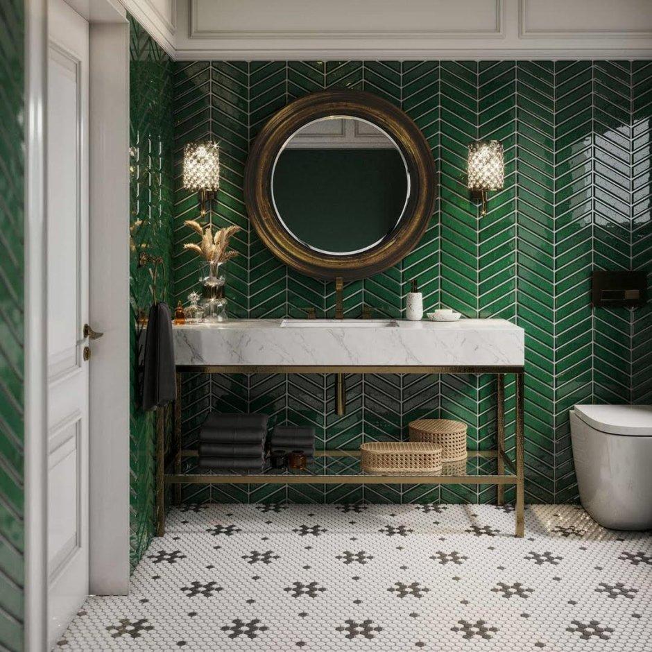Intensywne kolory mozaik w łazience