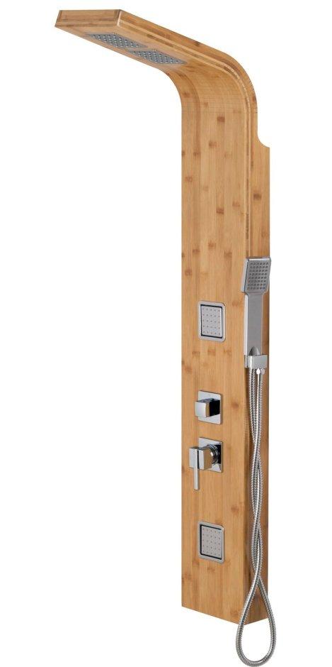 panel prysznicowy bambusowy chromowany bao