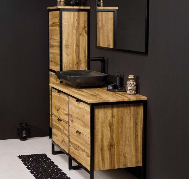 Naturalne dekory drewna w łazience