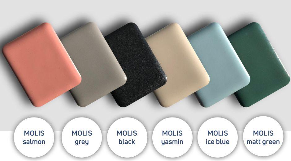 umywalki nablatowe MOLIS salmon w kolorze